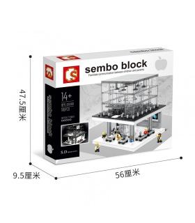 SEMBO SD6900 Apple Store Avec la Lumière de Blocs de Construction Jouets Jeu