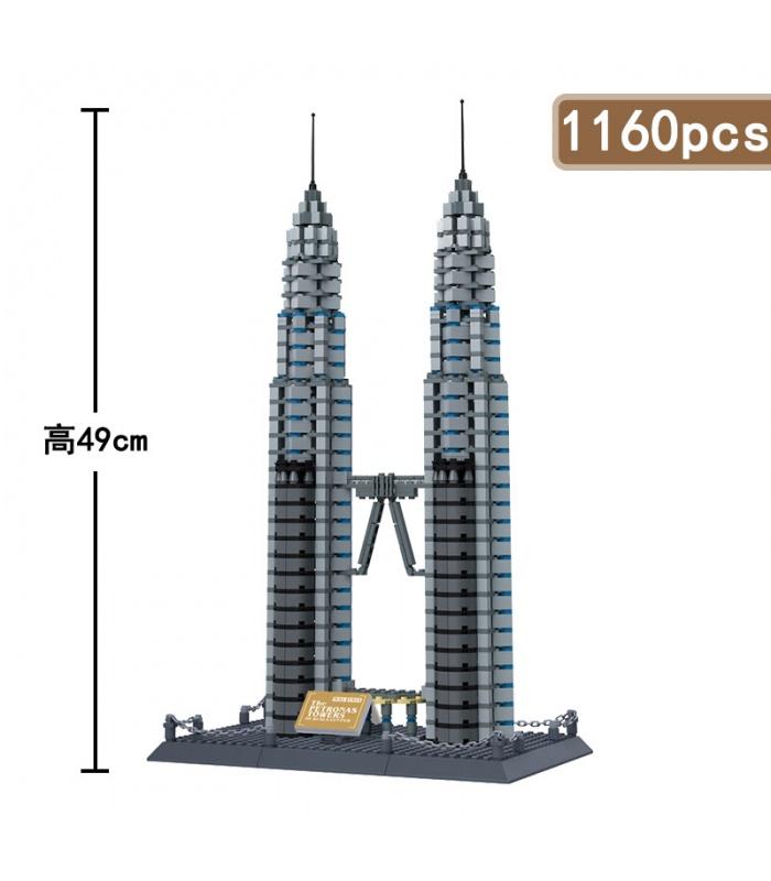 WANGE Architektur der Petronas Twin Towers 5213 Building Blocks Spielzeug-Set