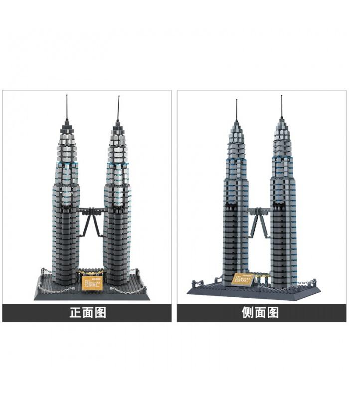 WANGE建築ペトロナスツインタワー5213ビルブロック玩具セット