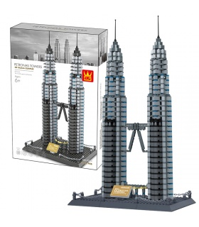 WANGE Architecture Petronas Twin Towers 5213 Building Blocks Toy Set