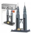 WANGE Architecture Tours Jumelles Petronas 5213 Blocs de Construction Jouets Jeu