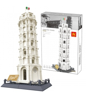 WANGE Architecture Leaning Tower of Pisa 5214 Building Blocks Toy Set