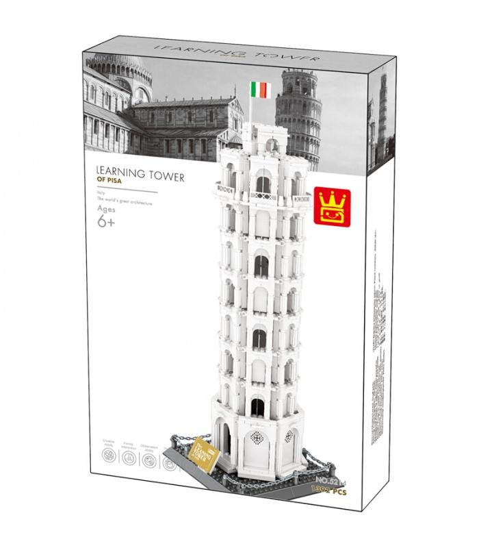 WANGE Architektur Schiefer Turm von Pisa 5214 Bausteine Spielzeug Set