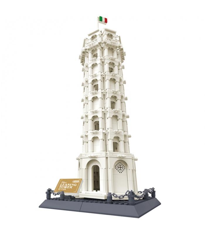 WANGE la Arquitectura de la Torre Inclinada de Pisa 5214 Bloques de Construcción de Juguete Set