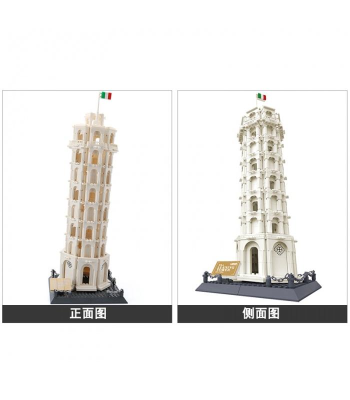 WANGE建築塔ピサの5214ビルブロック玩具セット