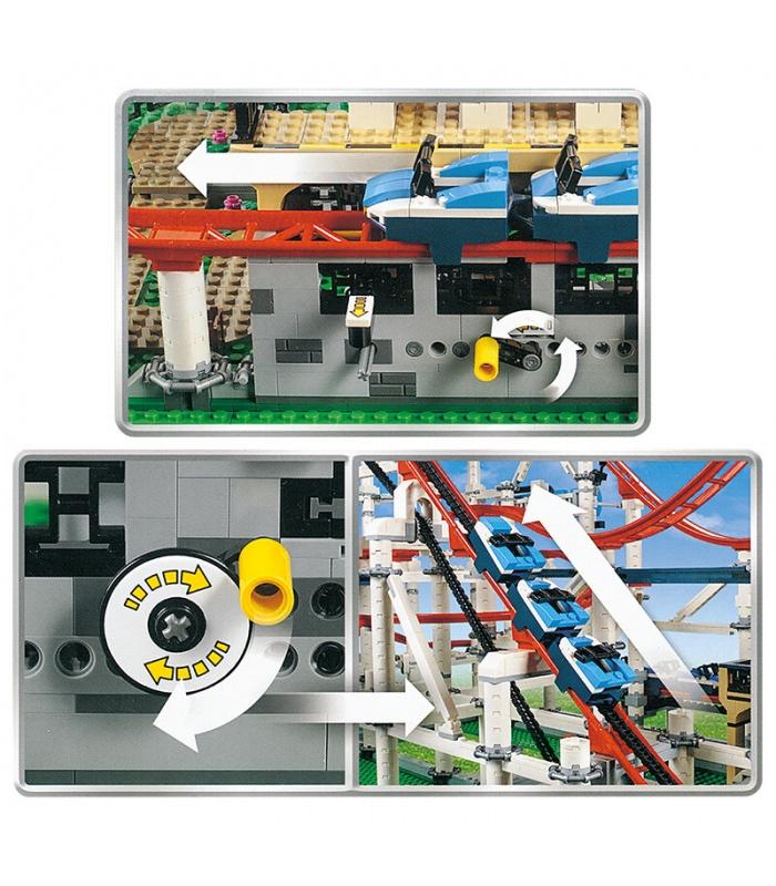 カスタム作成専門家のローラーコースター建物の煉瓦玩具セット4619個
