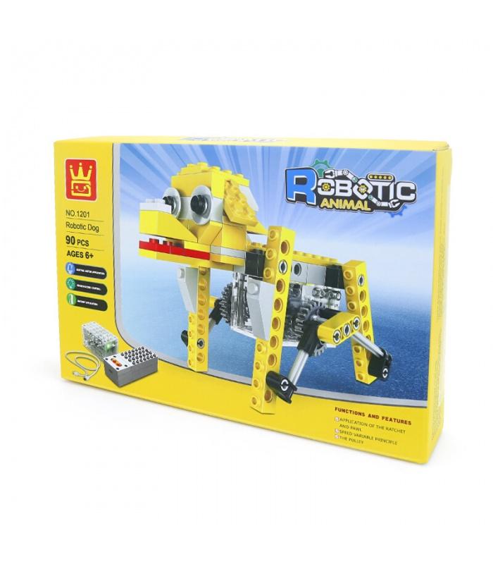 WANGE Roboter-Tier-Mechanischen Welpen-1201 Building Blocks Spielzeug-Set