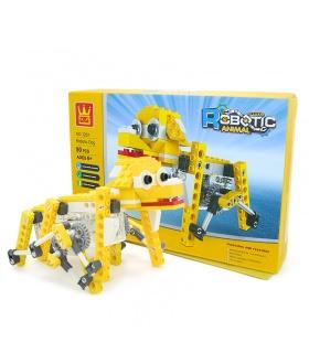 WANGE роботизированных животных механические щенка 1201 строительные блоки игрушка комплект