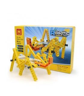 WANGE Robotertier Mechanische Schildkröte 1204 Bausteine Spielzeugset