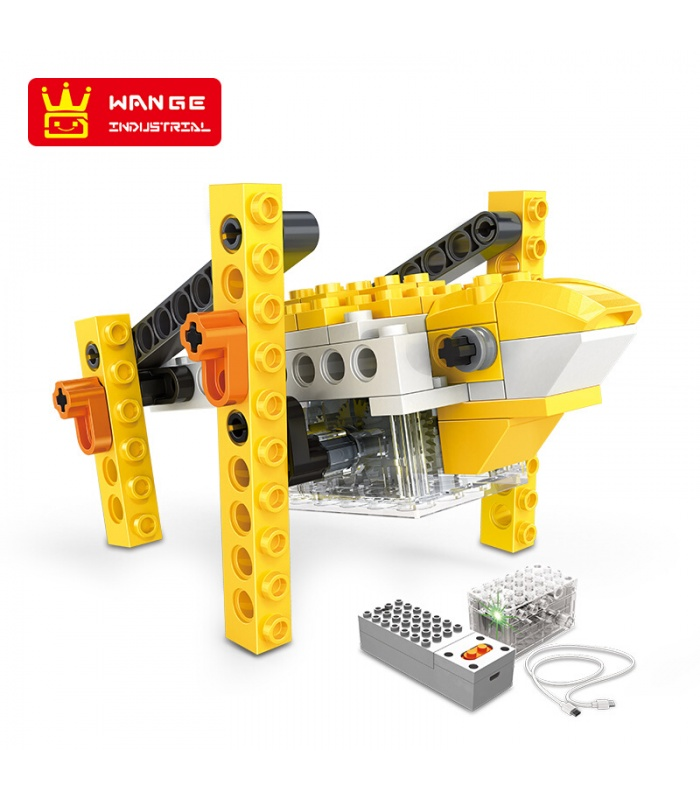 WANGE Robotic Animal Mechanical Frog 1205 Building Blocks Toy Set