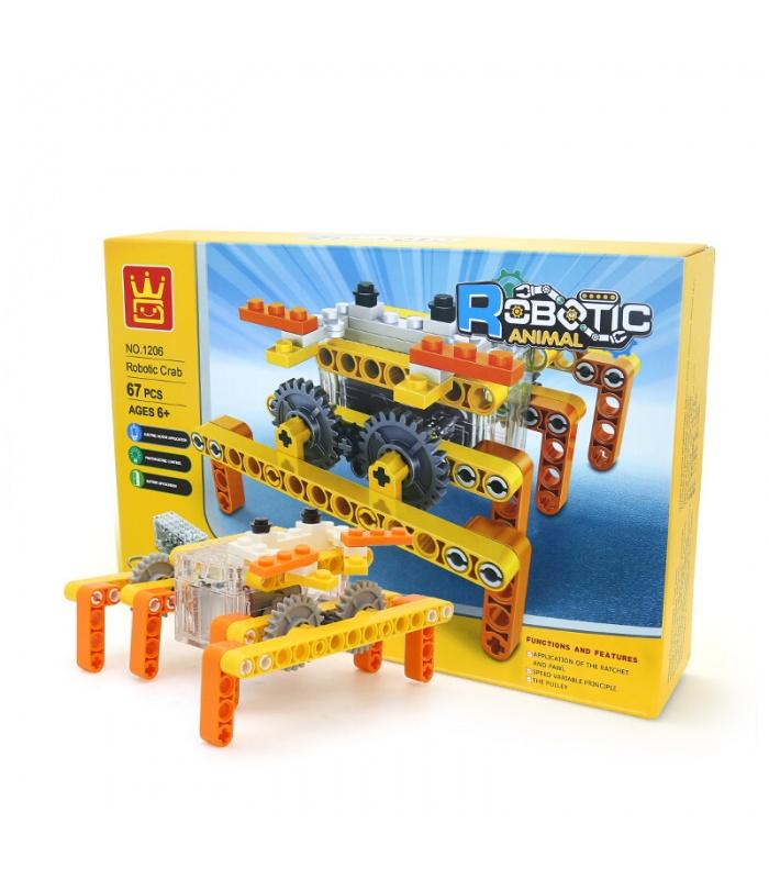 WANGE Roboter-Tier-Mechanische Krabbe 1206 Building Blocks Spielzeug-Set