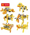 WANGE Robotic Animal 1201-1206 Set of 6 Building Blocks Educational Learning Toy Set