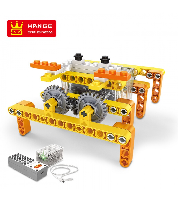 WANGE Roboter-Tier 1201-1206 6-er Set Bauen Blöcke Spielzeug-Set
