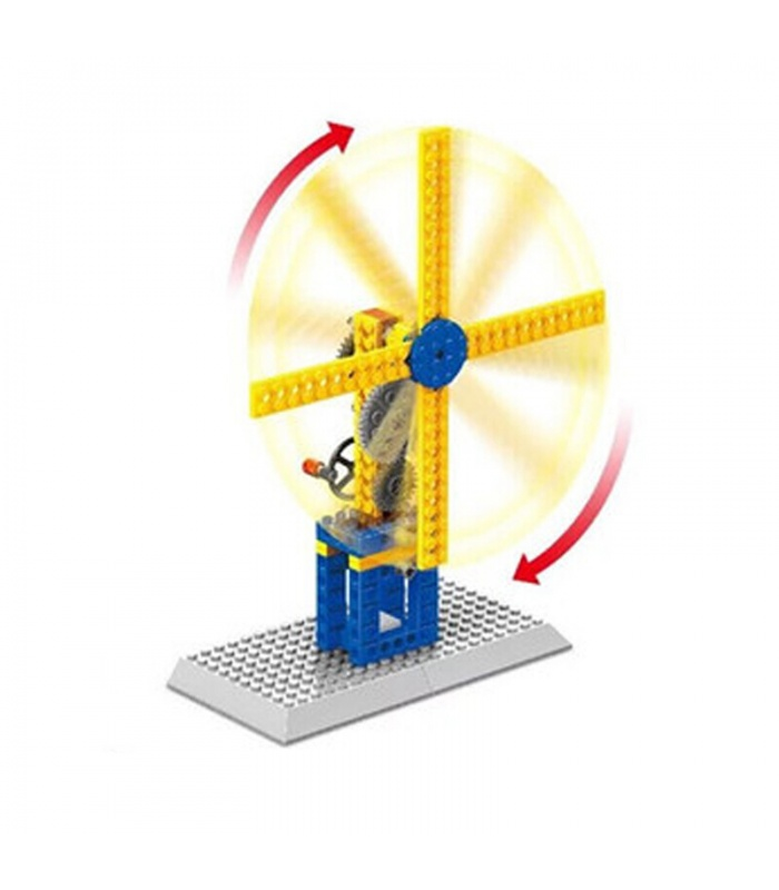 WANGE Mechanical Engineering Windmill 1302 Building Blocks Toy Set