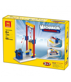 WANGE Maschinenbau Aufzug 1304 Building Blocks Spielzeug-Set