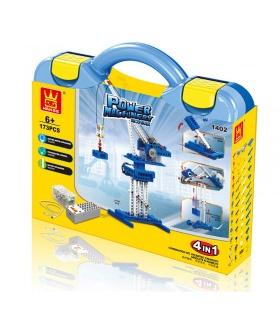 WANGE電機クレーン1402ビルブロック玩具セット