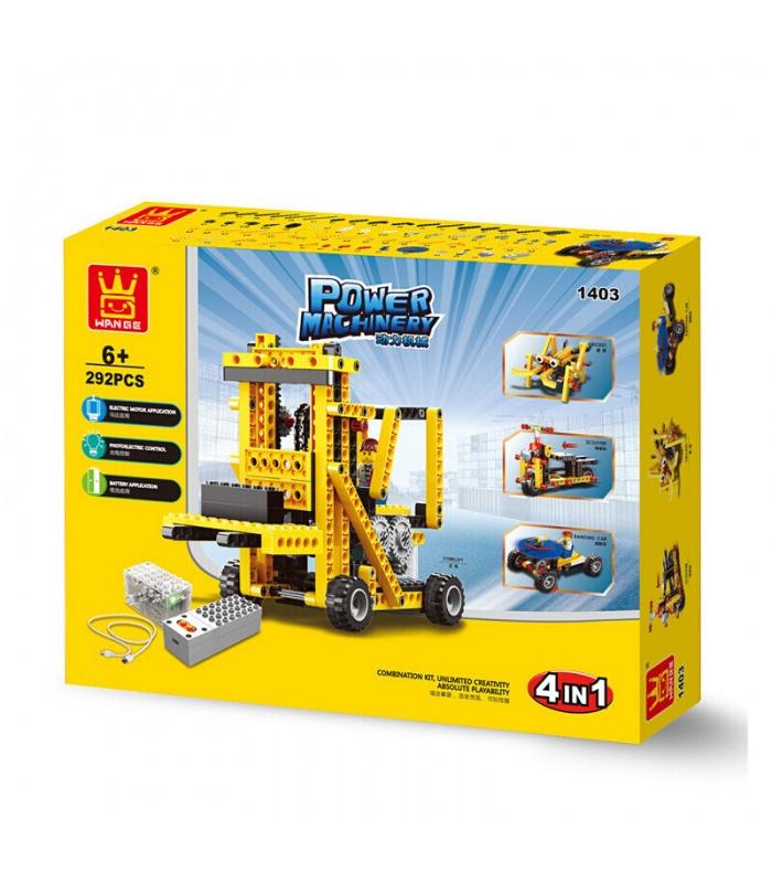 WANGE энергетическое машиностроение погрузчик 1403 строительные блоки игрушка комплект