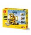 WANGE Power Maschinen Gabelstapler 1403 Building Blocks Spielzeug-Set