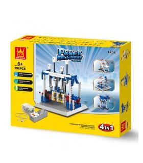 WANGE Poder de la Maquinaria de Vapor Motor de 1404 Bloques de Construcción de Juguete Set