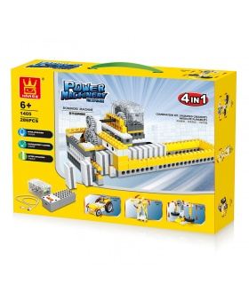 WANGE Power Machinery Dominos Maschine 1405 Building Blocks Spielzeug-Set
