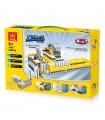 WANGE Power Machinery Dominos Maschine 1405 Building Blocks Spielzeug-Set