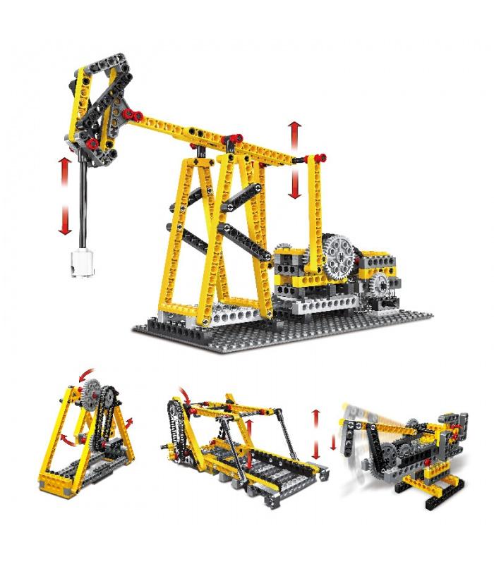 WANGE Power Machinery Beam Pumping Unit 1406 Building Blocks Toy Set