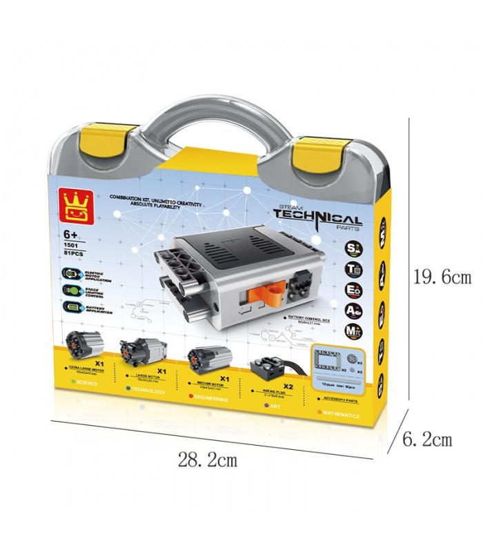 WANGE Power Maschinen Dampf Akku-Motoren-Kit 1501 Building Blocks Spielzeug-Set