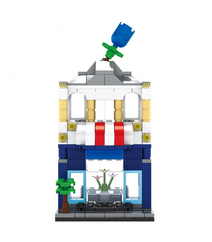 WANGE Street View Flower Shop 2310 Building Blocks Toy Set