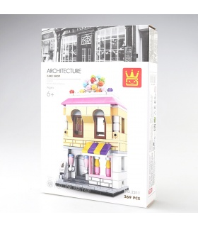 WANGE Street View Cake Shop 2311 Building Blocks Toy Set