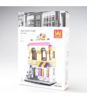 WANGEストリートビューケーキショップ2311ビルブロック玩具セット