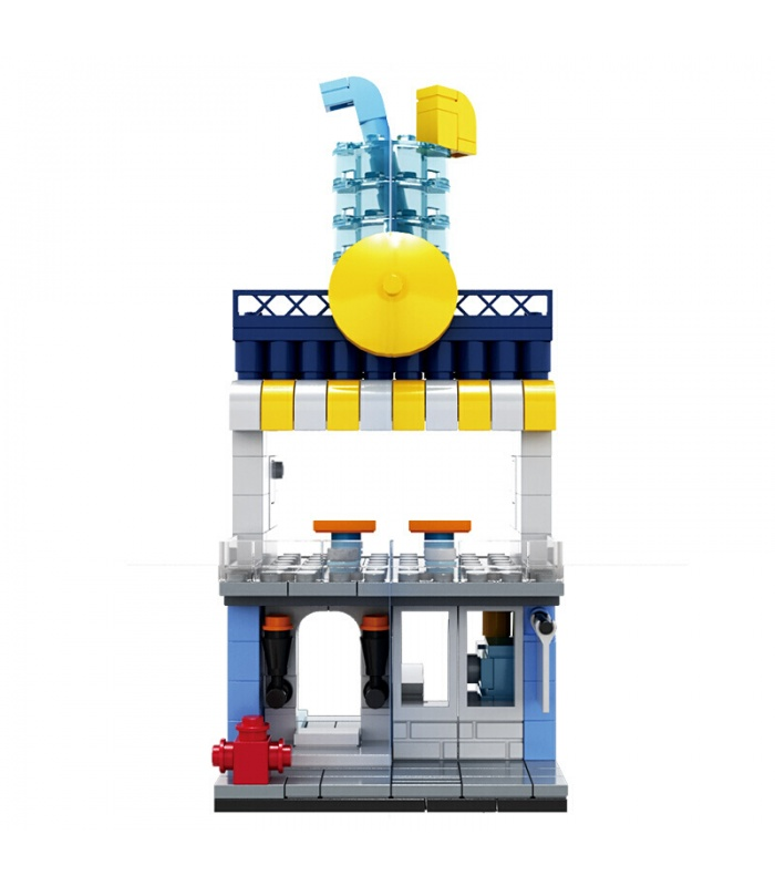 WANGE Street View Beverage Shop 2312 Building Blocks Toy Set