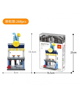 WANGE Street View Beverage Shop 2312 Building Blocks Toy Set