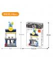WANGE Street-View-Getränke-Shop 2312 Building Blocks Spielzeug-Set