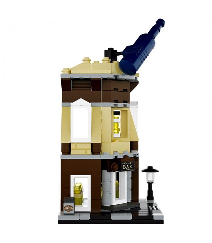 WANGE Street-View-Ecke, Bar, 2313 Building Blocks Spielzeug-Set