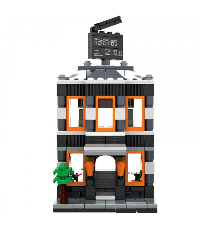 WANGE Street View Cinema 2314 Building Blocks Toy Set