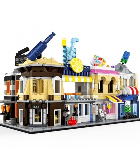 WANGE Street View Mini Architecture Set of 5 2310-2314 Building Blocks Toy Set