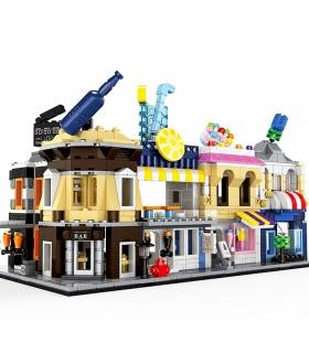 WANGEストリートビューミニ建築設の5 2310-2314ビルブロック玩具セット