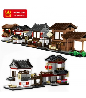 WANGE Mini Chinese Street View Set of 6 2315-2320 Building Blocks Toy Set