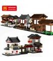 WANGE Mini Chinois Street View Set de 6 2315-2320 Blocs de Construction Jouets Jeu