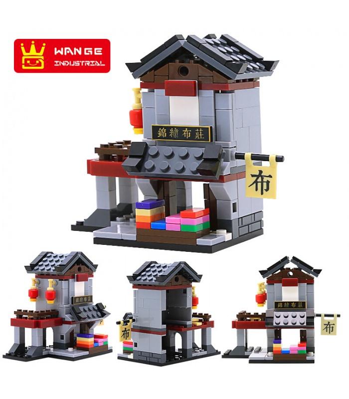 WANGE Mini Chinese Street View Set of 6 2315-2320 Building Blocks Toy Set