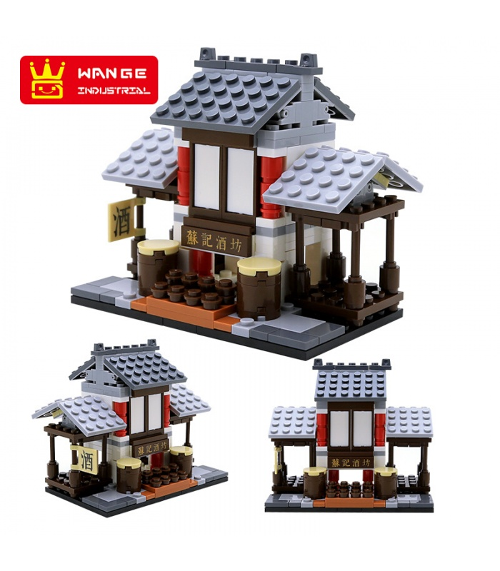 WANGE мини китайские улице установить вид 6 2315-2320 строительные блоки комплект игрушки