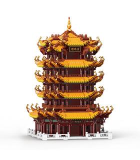 XINGBAO 01024 башня желтого Журавля Хунхэлоу строительного кирпича игрушка набор