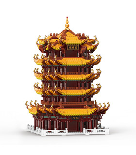 XINGBAO 01024 Tour de la Grue Jaune Huanghelou Briques de Construction Jouet Jeu