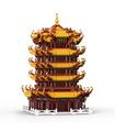 XINGBAO 01024 Torre de la Grulla Amarilla Huanghelou Edificio de Ladrillos Conjunto de Juguete
