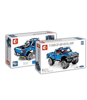 Sembo 701970 F-150 Raptor Pickup Truck Schepper Building Blocks Toy Set