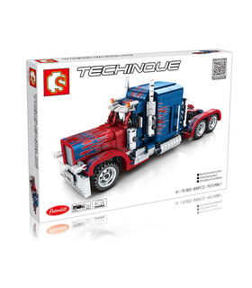Sembo701803場するピータービルト社オプティマスプライムトラックブロック玩具セット