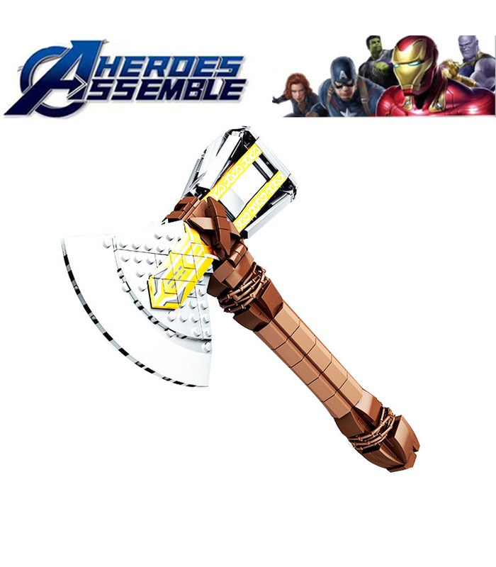 Benutzerdefinierte Avengers 4 Thor Axe Stormbreaker Axe Building Blocks Spielzeug-Set 410-Teilig