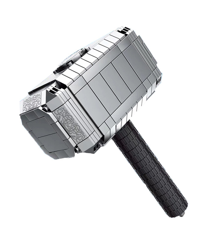 Custom Mjolnir Thor Hammer Building Blocks Toy Set 324 Pieces