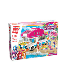 ENLIGHTEN 2020 Puppy Camping Van Building Blocks Set