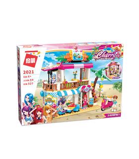 啓発2021年までに海鮮レストランビルブロック玩具セット